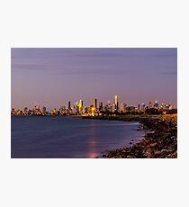 Melbourne, Australia at Sunset Photographic Print