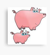 pig an piggy animal farm for kid Metal Print