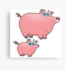 pig an piggy animal farm for kid Canvas Print