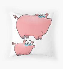 pig an piggy animal farm for kid Throw Pillow