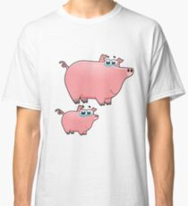 pig an piggy animal farm for kid Classic T-Shirt