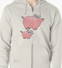 pig an piggy animal farm for kid Zipped Hoodie
