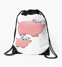 pig an piggy animal farm for kid Drawstring Bag