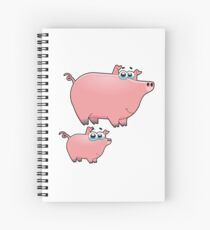 pig an piggy animal farm for kid Spiral Notebook