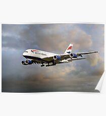 British Airways Airbus A380 Poster