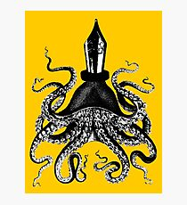 Octopus ink pen Photographic Print