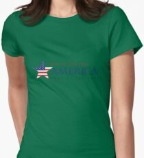 America Land of the Free Womens Fitted T-Shirt