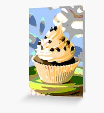 Chocolate Cupcakes with Vanilla Frosting Greeting Card
