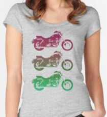 triumph motorcycle vintage retro design Women's Fitted Scoop T-Shirt