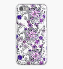 Pink purple watercolor hand painted floral iPhone Case/Skin