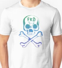 Fixed gear, bike, bicycle, skull emblem T-Shirt