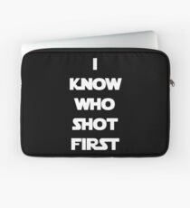 Shot First Laptop Sleeve