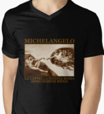 michelangelo Men's V-Neck T-Shirt