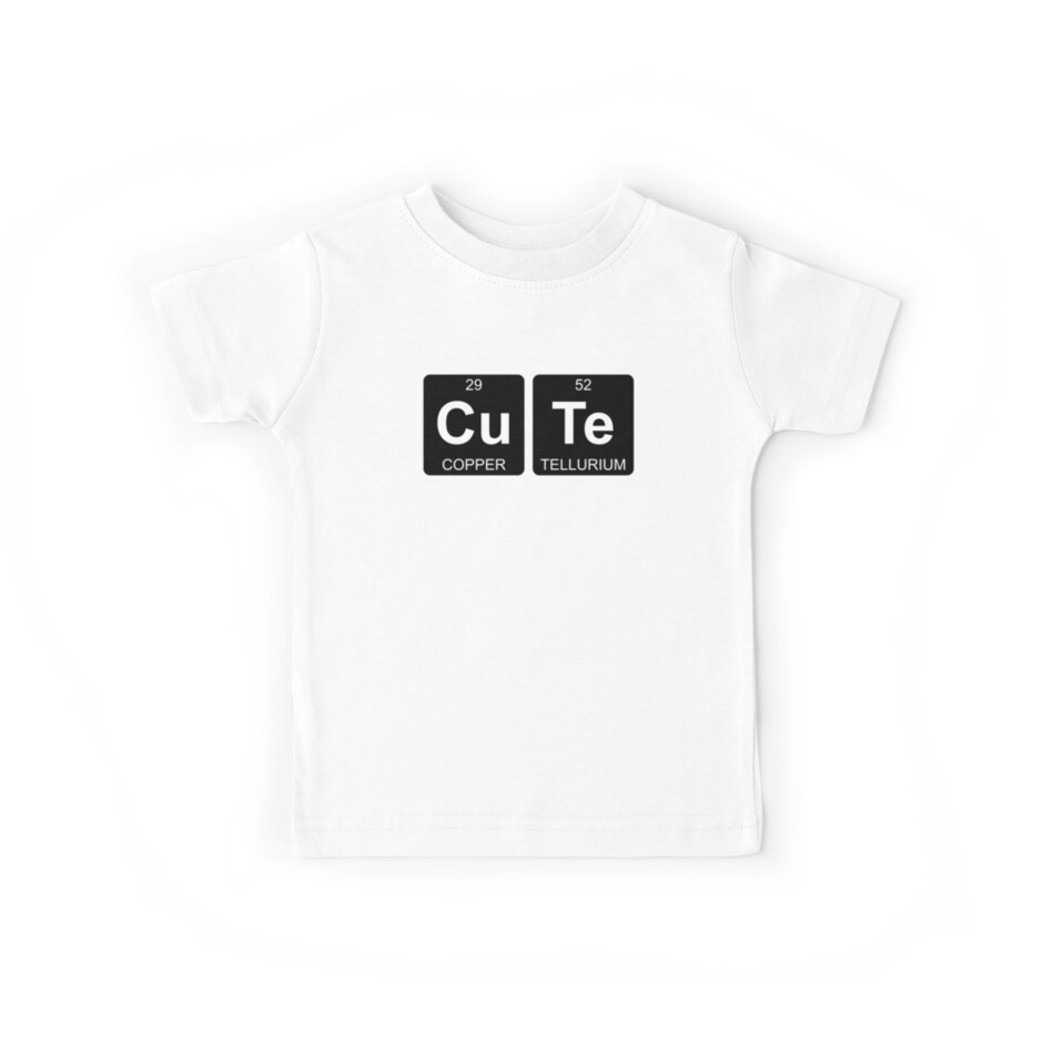 Cu Te - Cute - Periodic Table - Chemistry - Chest by Jenny Zhang
