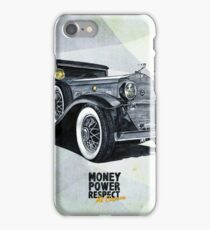 Historic gangster car iPhone Case/Skin