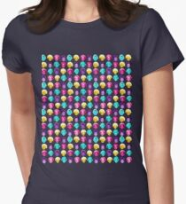 The Golden Girls - Technicolor Pop Print Womens Fitted T-Shirt