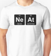 Ne At - Neat - Periodic Table - Chemistry - Chest Unisex T-Shirt