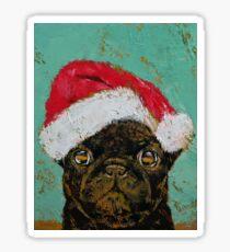 Santa Pug Sticker