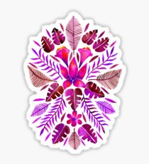 Tropical Symmetry – Magenta Sticker