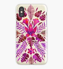 Tropical Symmetry – Magenta iPhone Case/Skin