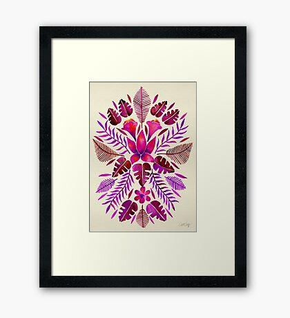 Tropical Symmetry – Magenta Framed Print