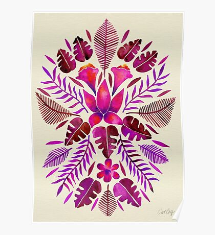 Tropical Symmetry – Magenta Poster