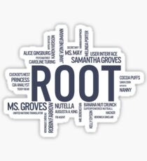 Root Identities - Person Of Interest Sticker
