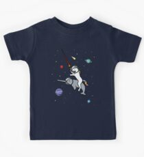 Unicorn Riding Narwhal In Space Kids Clothes
