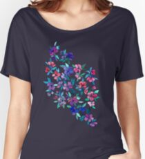 Southern Summer Floral - navy + colors Women's Relaxed Fit T-Shirt