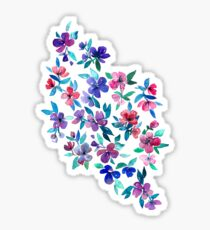 Southern Summer Floral - navy + colors Sticker