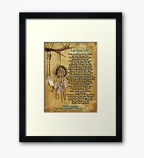 """Live Your Life"",Chief Tecumseh watercolor effect Framed Print"