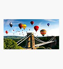 Bristol city balloons Photographic Print