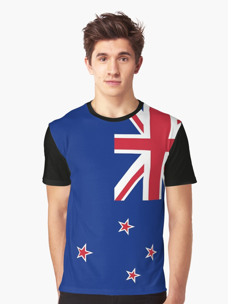 New Zealand Flag Graphic T-Shirt Front