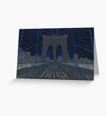 Phish NYE MSG NYC Brooklyn Bridge Greeting Card