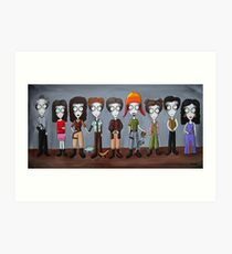 Firefly Characters, spookified. Art Print