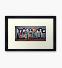 Firefly Characters, spookified. Framed Print