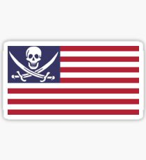 American Pirate Sticker
