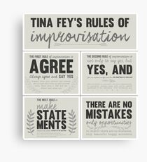 Tina Fey's rules of improvisation Canvas Print
