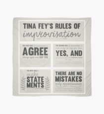 Tina Fey's rules of improvisation Scarf