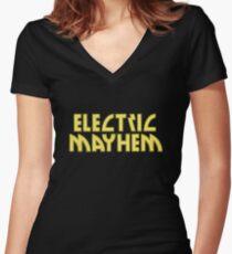 Electric Mayhem Women's Fitted V-Neck T-Shirt