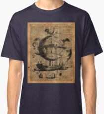 Victorian Steampunk Flying Machine Classic T-Shirt