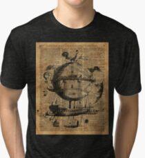 Viktorianische Steampunk-Flugmaschine Vintage T-Shirt