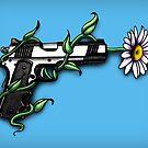 Daisy in Gun Barrel by Jessica Bone