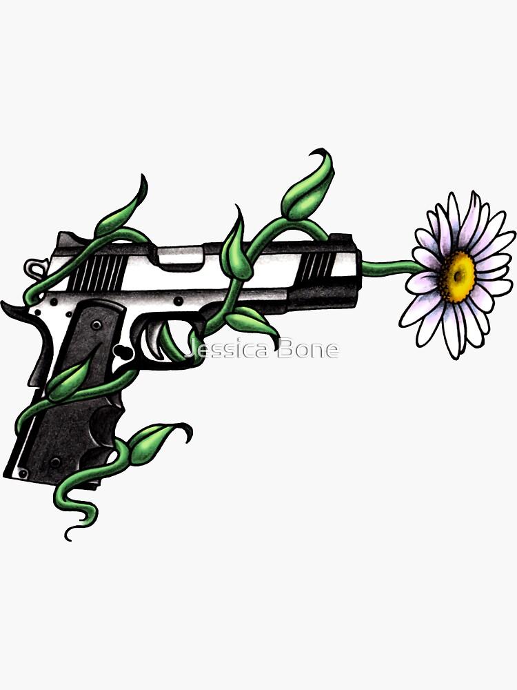 Daisy in Gun Barrel von bonedesigns