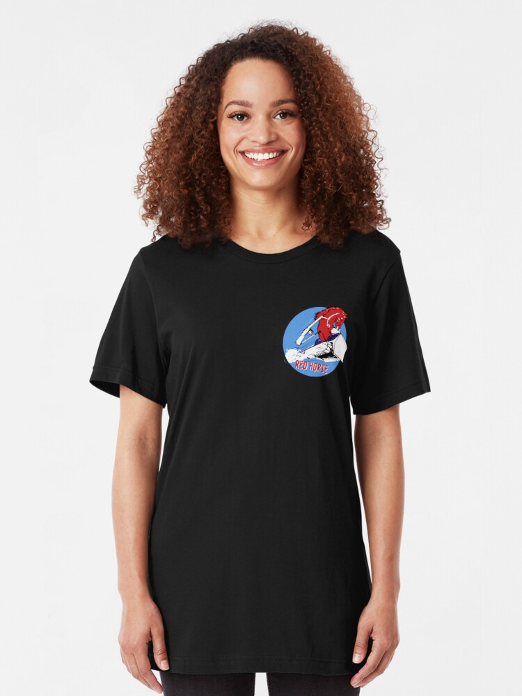 Alternate view of Expeditionary Red Horse Group Slim Fit T-Shirt