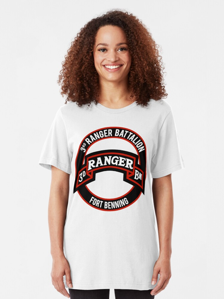 Alternate view of 3rd Ranger Bn Slim Fit T-Shirt
