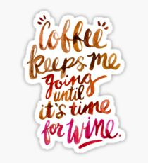 Coffee & Wine – Brown & Magenta Ombré Sticker