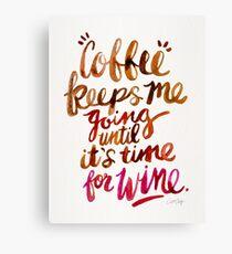 Coffee & Wine – Brown & Magenta Ombré Canvas Print