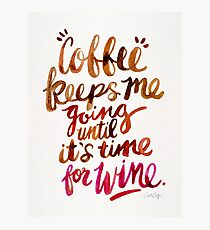 Coffee & Wine – Brown & Magenta Ombré Photographic Print