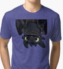 Upside Down Toothless Tri-blend T-Shirt